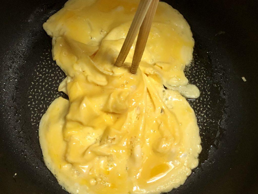 ドレスドオムライス卵作り
